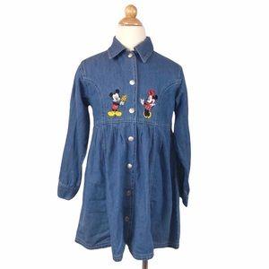 THE DISNEY STORE Vintage Embroidered Denim Dress